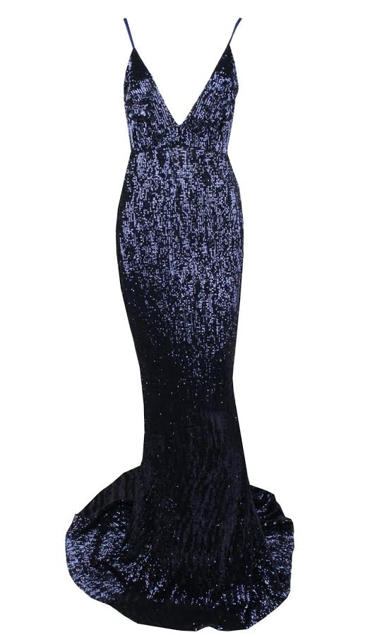 Ana Maxi Dress - Navy