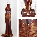 Kina Maxi Dress Bronze