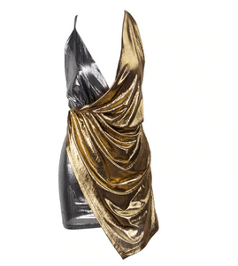 Metallic Grecian Dress