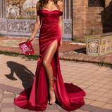Red Ever Satin Gown