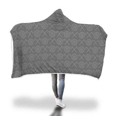 Viking Axes Shields Hooded Blanket