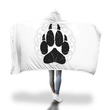 Norse Wolf Paw Hooded Blanket
