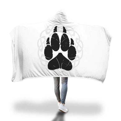 Norse Wolf Paw Hooded Blanket Hooded Blanket
