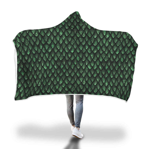 Green Dragonscale Hooded Blanket