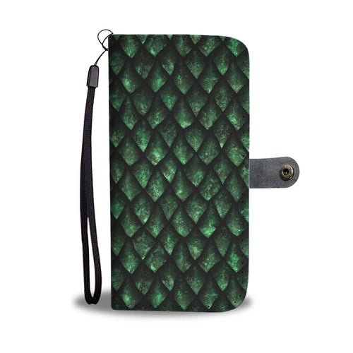 Green Dragonscale Wallet Phone Case
