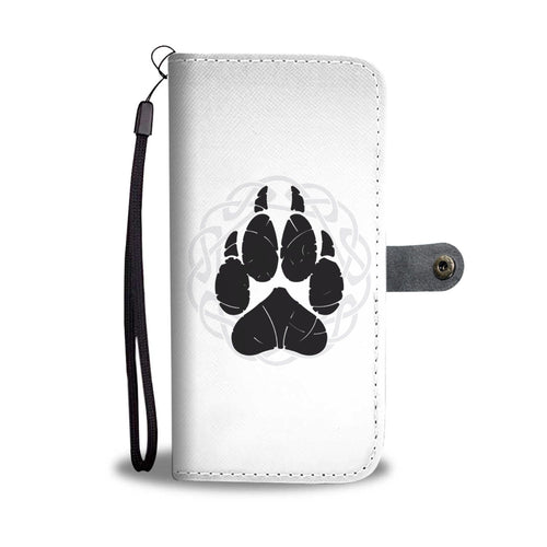 Norse Wolf Paw Wallet Phone Case