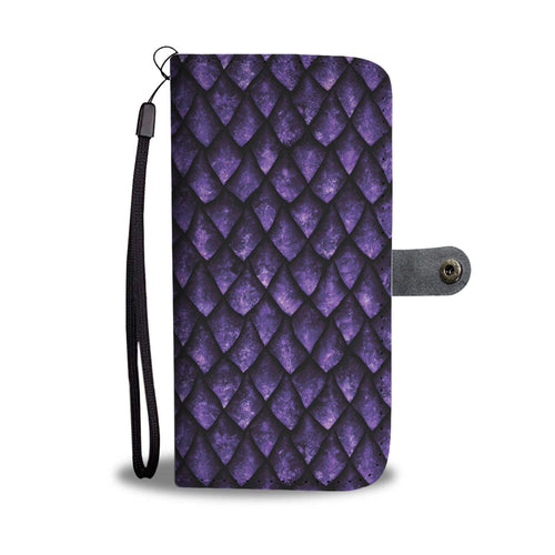 Purple Dragonscale Wallet Phone Case