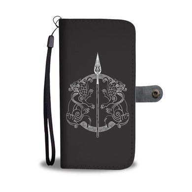 Spear of Odin Geri Freki Wallet Phone Case