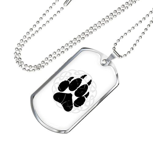 Norse Wolf Paw Dog Tag Jewelry