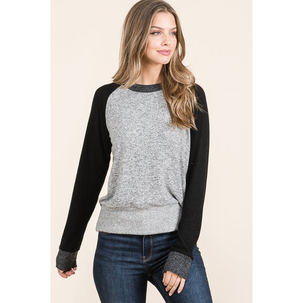 Grey + Black Multi Sweater