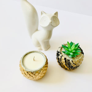 The Pineapple Concrete Candle