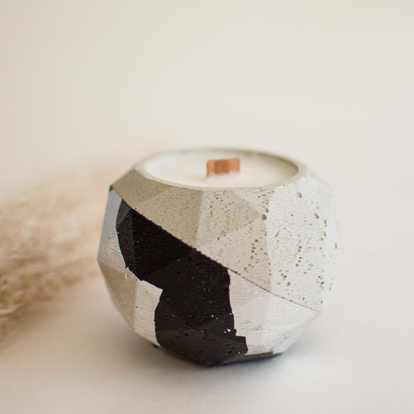 Geometric Sphere Concrete Candle
