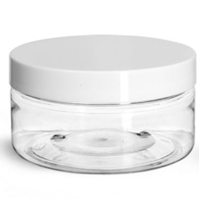 Plastic Jars - 8 oz - $1.28 Unit