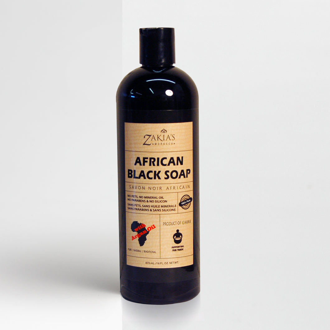 SOP-110 | African Black Soap - with Argan Oil - 16 oz