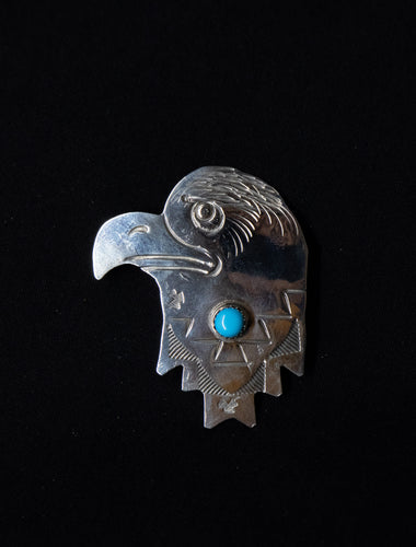 Eagle Head pin Turquoise