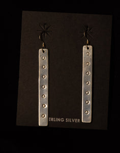 Sterling Earring With Half Moon
