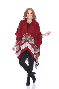 Kata (Red Women's Wrap, Shawl.)