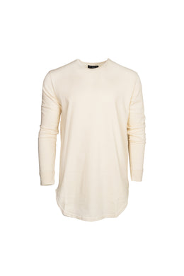 L/S Scoop Tee (Off-White)