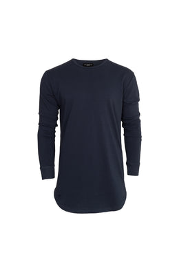 L/S Scoop Tee (Navy)