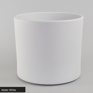 "Matte White Cylinder Pot 10"" - ceramic pots - By plantwares™"