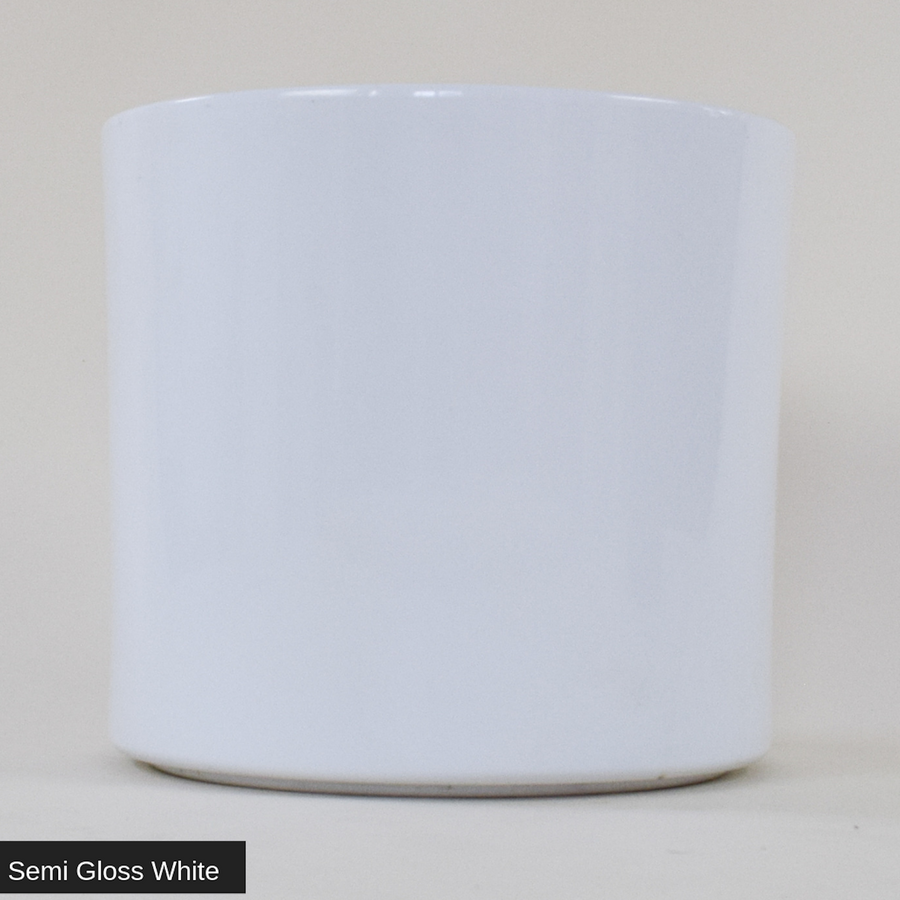"Semi Gloss White Cylinder 10"" - ceramic pots - By plantwares™"