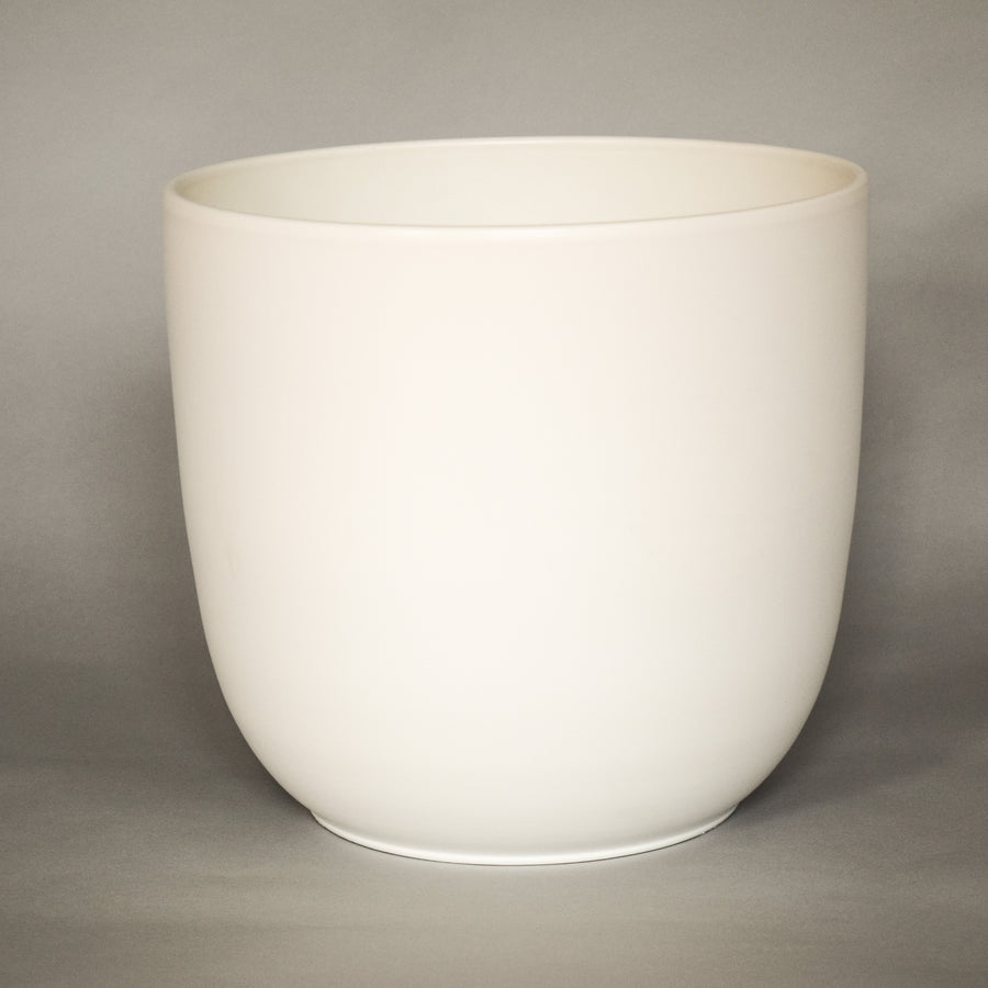 "Matte White Tapered Pot 10"" - ceramic pots - By plantwares™"