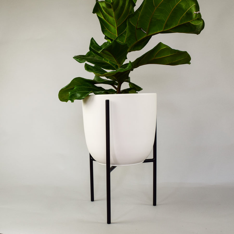 Naramata + Tapered Ceramic Pot - Plant Stands - By plantwares™