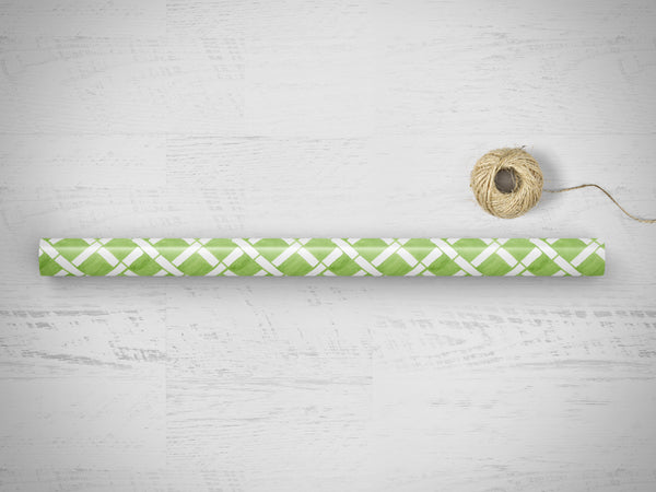Green Lattice Gift Wrap