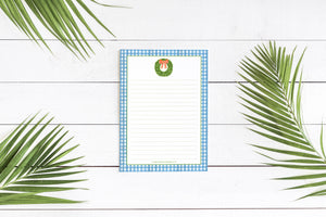 Boxwood + Gingham - 5x7 Notepad