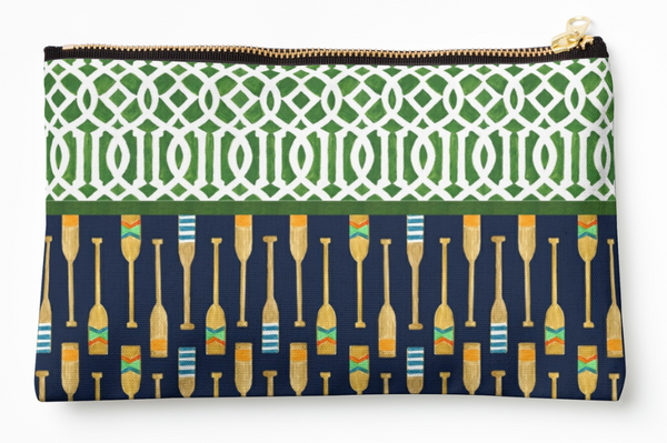 Oars + Trellis - Zipper Pouch (3 sizes)
