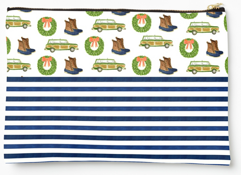 Prep + Stripes - Zipper Pouch (3 sizes)