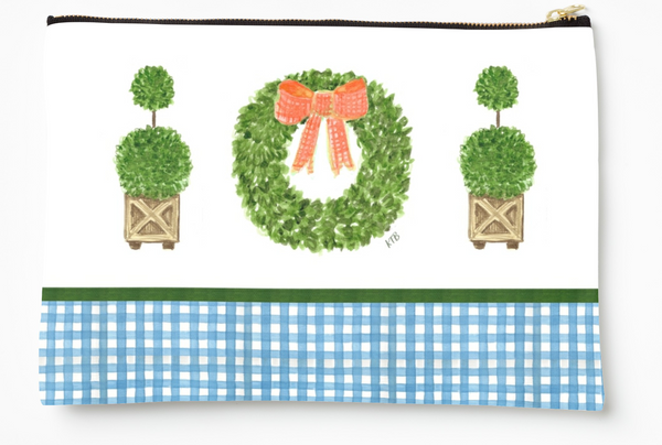 Boxwood + Gingham - Zipper Pouch (3 sizes)