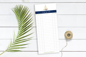 Shopping List - (Sailboat) - 3.625 x 8.5 Notepad