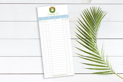 Shopping List - (Boxwood) - 3.625 x 8.5 Notepad