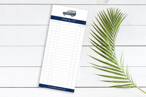 Shopping List - (Defender) - 3.625 x 8.5 Notepad