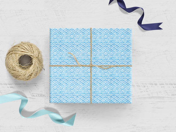 Blue Scales Gift Wrap