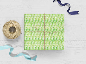 Lime Green Scales Gift Wrap