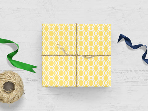 Yellow Trellis Gift Wrap