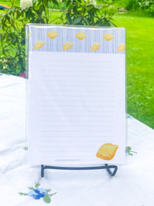 Lemon + Stripes - 5x7 Notepads