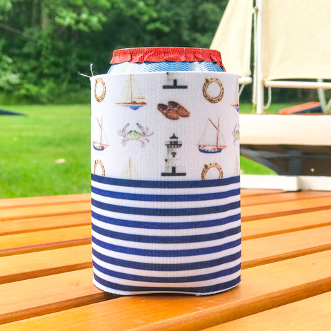 Sailing  Stripes - Drink Coozie