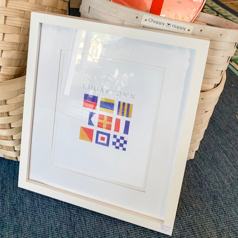 Nautical Flags (Edgartown) -  8X10 (un-framed) Watercolor Print