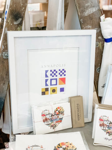 Nautical Flag (Annapolis)  -  8X10 (un-framed) Watercolor Print