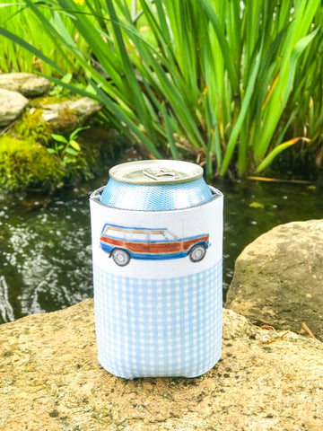Wagoneer + Blue Gingham - Drink Coozie