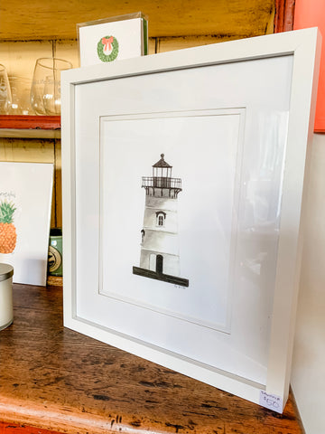 Edgartown Lighthouse  -  8X10 (un-framed) Watercolor Print