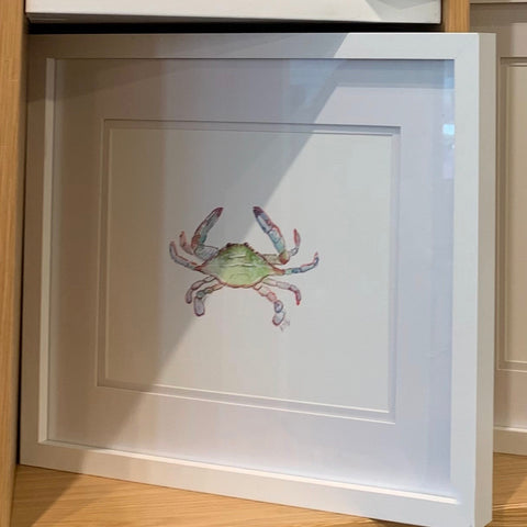 Crab Print -  8X10 (un-framed) Watercolor Print