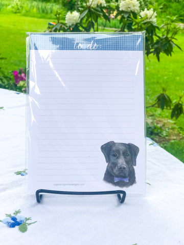 Black Lab - 5x7 Notepad