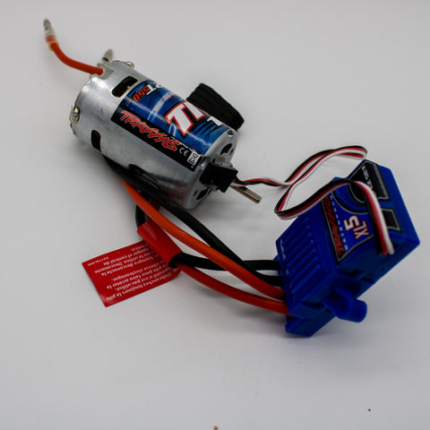 Traxxas XL-5 Waterproof ESC and 12T Titan 550 Motor