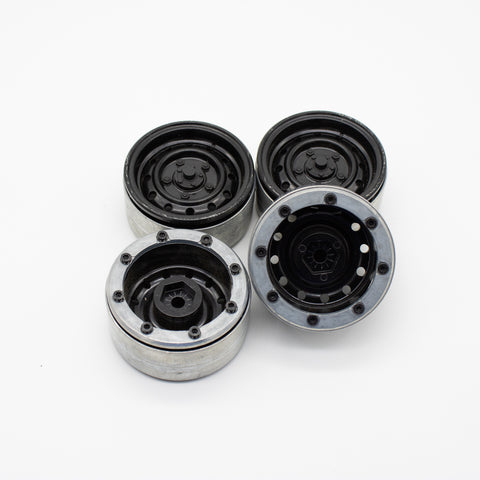 GRC 1.9 12-Hole Metal Classic Beadlock Wheel #Series III Black