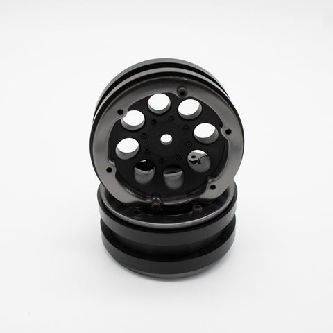 Axial 1.9 8 Hole Beadlock Wheels (Black) (2) - Opened Package