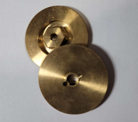 Scale Brake Rotor (Brass) - HEX STYLE